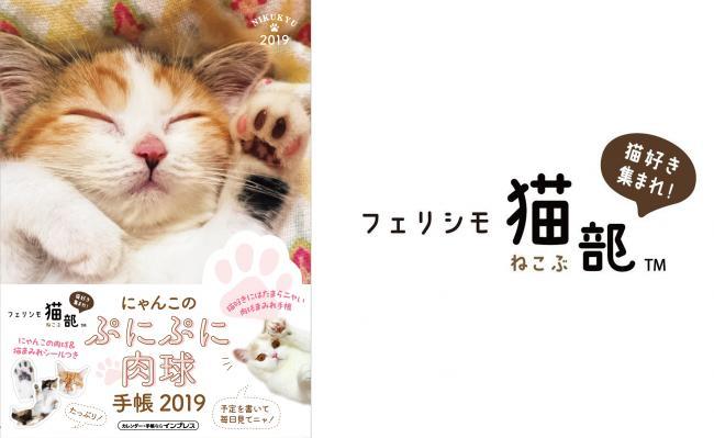 にゃんこのぷにぷに肉球手帳2019