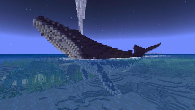 Minecraftゲーム内ストアに新参画クリエイターによる作品『Giant Ocean Creatures(空を泳ぐ島)』