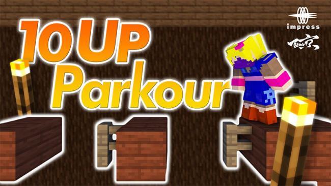 Minecraftゲーム内ストアに、低難易度から高難易度までアスレチックステージが約10個収録された『10 UP Parkour』を出品