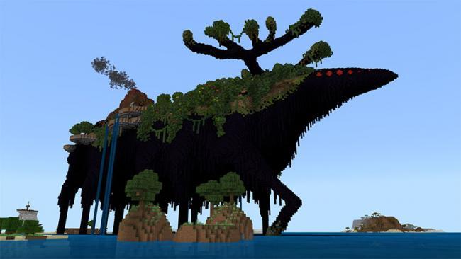 Minecraftゲーム内ストアにカイジュウの島々が点在するワールド 『カイジュウのシマ』を出品