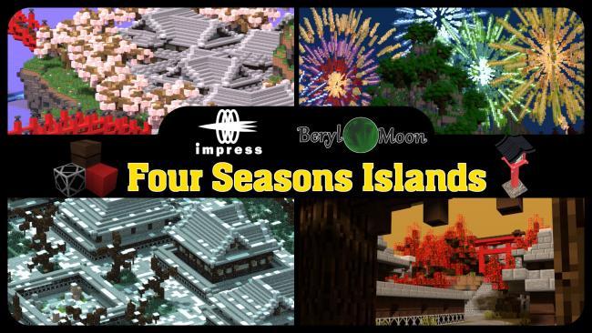 Minecraftゲーム内ストアに、日本の四季を体験できるワールド 「四季の島」を出品