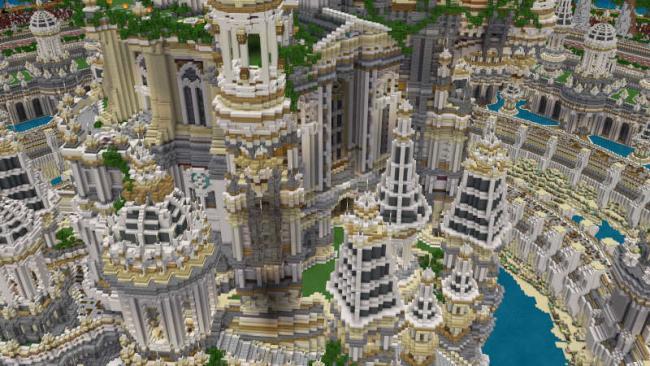 Minecraftゲーム内ストアに、新規参画クリエイターによる 美しく幻想的な巨大島ワールド「大海洋の宝城」を出品