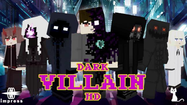 Minecraftゲーム内ストアに、闇の特殊能力者をイメージしたスキンパック 『ダークヴィランHD』を出品