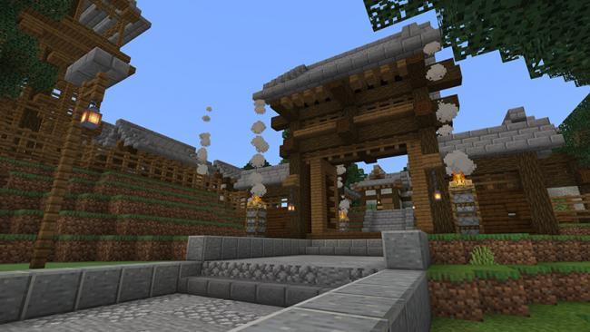 Minecraft マーケットプレイスに、和風ファンタジーの冒険を楽しむワールド 『侍vs鬼 鬼ヶ島攻略』を出品