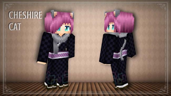 Minecraft マーケットプレイスに、不思議の国のアリスをイメージした着物スキン 『ALICE×KIMONO HD』を出品