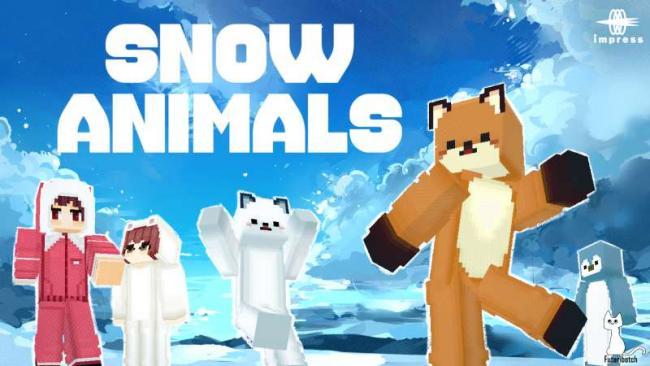Minecraft マーケットプレイスに、かわいいキツネやペンギンのスキンパック 『雪の動物達HD』を出品