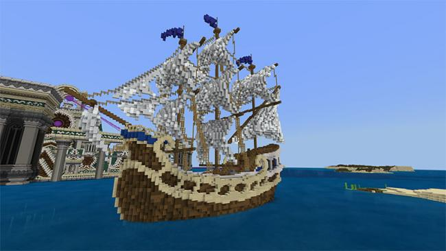 Minecraft マーケットプレイスに、大海洋に浮かぶ難攻不落のサバイバルワールド 『海上要塞』を出品
