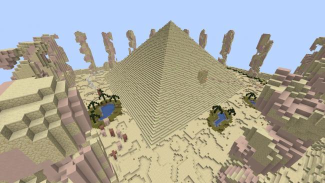 Minecraft マーケットプレイスに、変化に富んだ景観を駆け抜けるワールド 『景観パルクール』を出品
